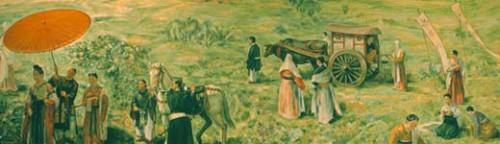 「推古天皇の薬狩り」星薬科大学の壁画.jpg