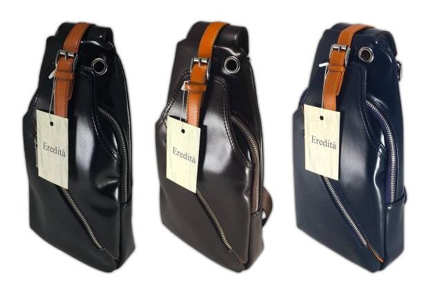 メンズのレザーショルダーバッグをお探しなら安いのにデザインがかっこいいアイテムを扱う「Eredità」へ
