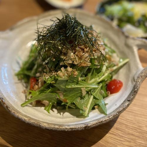 鶏ハムと水菜のサラダ.jpg