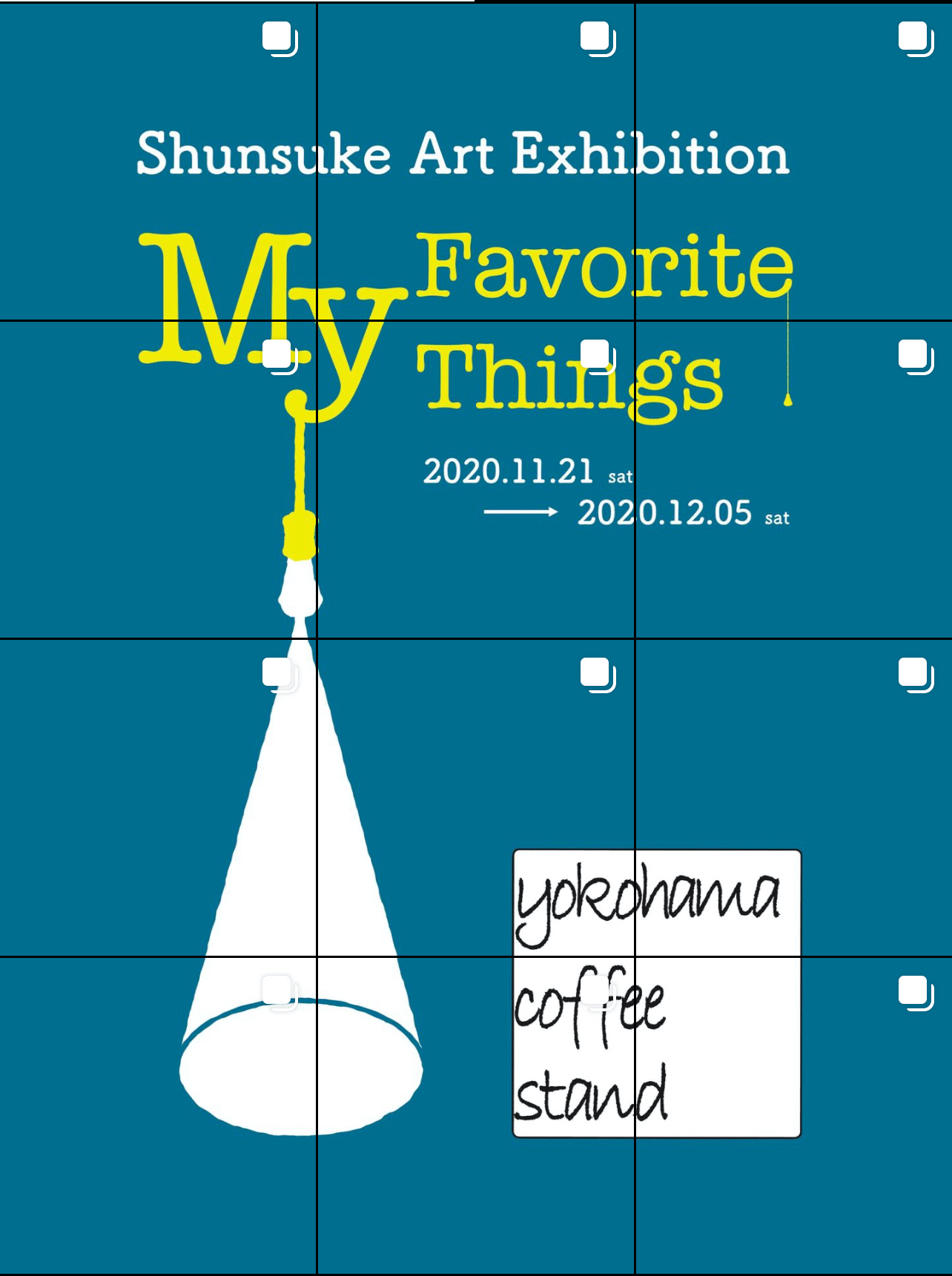 shunsuke's solo exhibition 「My Favorite Things 」開催のお知らせ