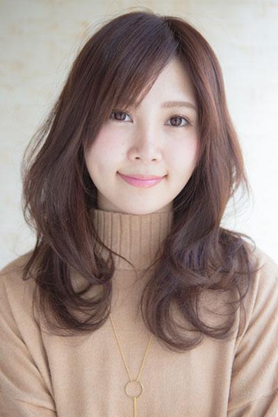 相模大野の「傷まない」縮毛矯正とカラーがオススメの美容院 | Keshiki |  大人系モーブのロングレイヤースタイル