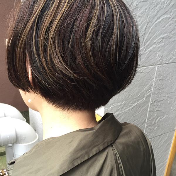 京都市河原町の美容院(美容室)『geek hair』大人ショートボブ