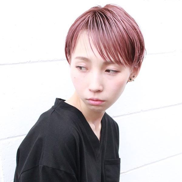 京都市河原町の美容院(美容室)『geek hair』スタイル | ウエットショートスタイル