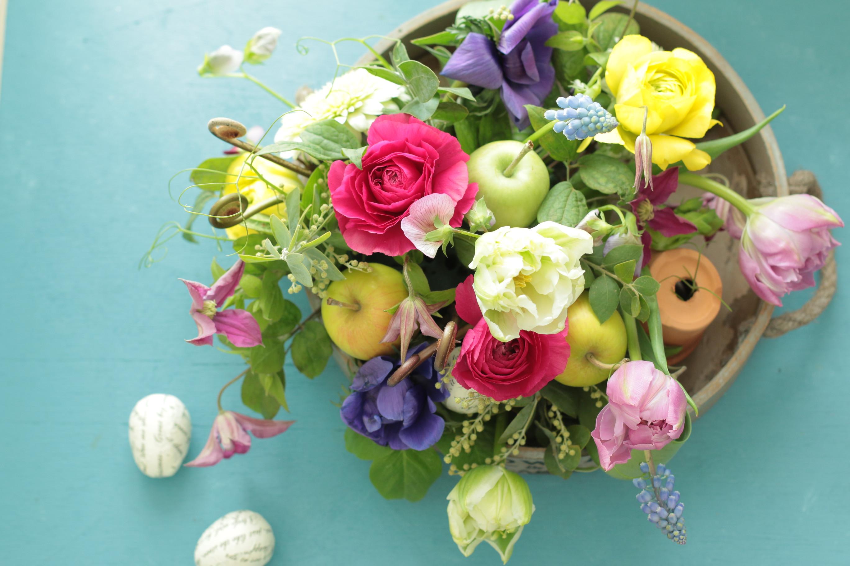 1/14(火)15(水)フレッシュフラワーレッスンです - お花の教室 Fleur de saisons
