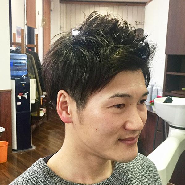 彦根市メンズ専門美容室 | dresshair | 束感ツーブロックアップバンクスタイル