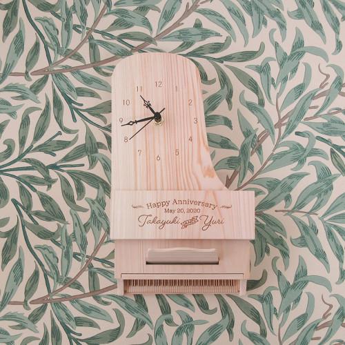 《新作のお知らせ》ピアノの壁掛け時計できました♪
