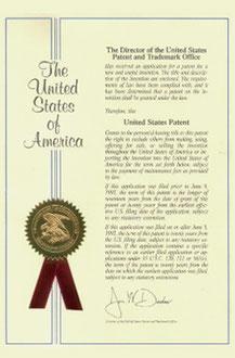 特許米国1