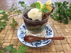 甘酒アイスと抹茶ムースのパフェ.JPG
