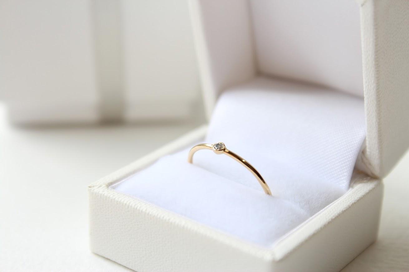 華奢なリングを取り扱う【niruc】では特別な日にぴったりのダイヤのリングもご用意