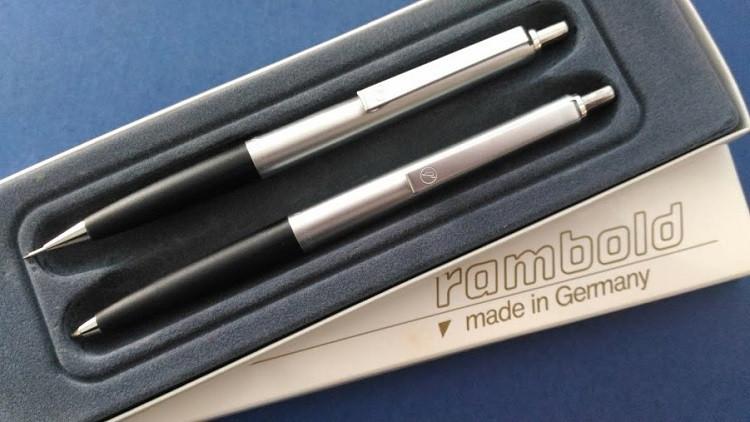 RAMBOLD ballpoint pen (dead stock) 旧西ドイツ時代のデッドストック。ランボルト社のボールペンは懐かしく.jpg