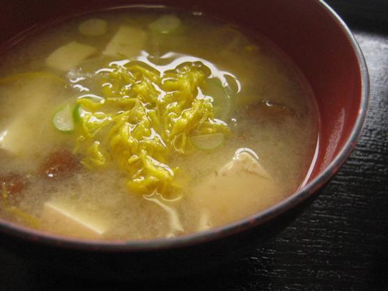 干し菊 味噌汁