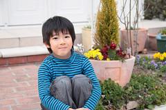 障害児童がくつろげる庭