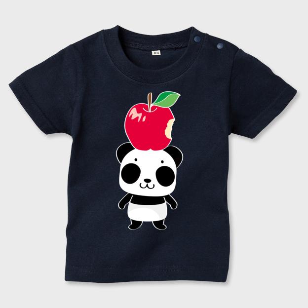 キッズTシャツ リンゴ食べたの誰?