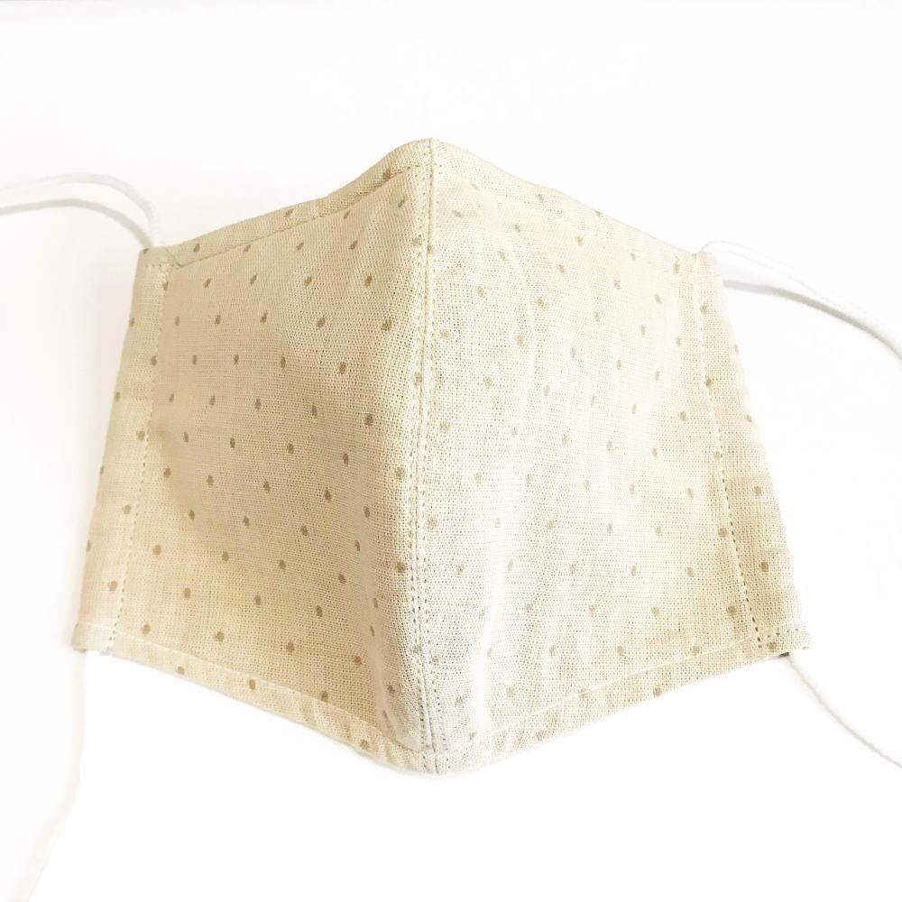 洗える立体布マスク*ベージュ