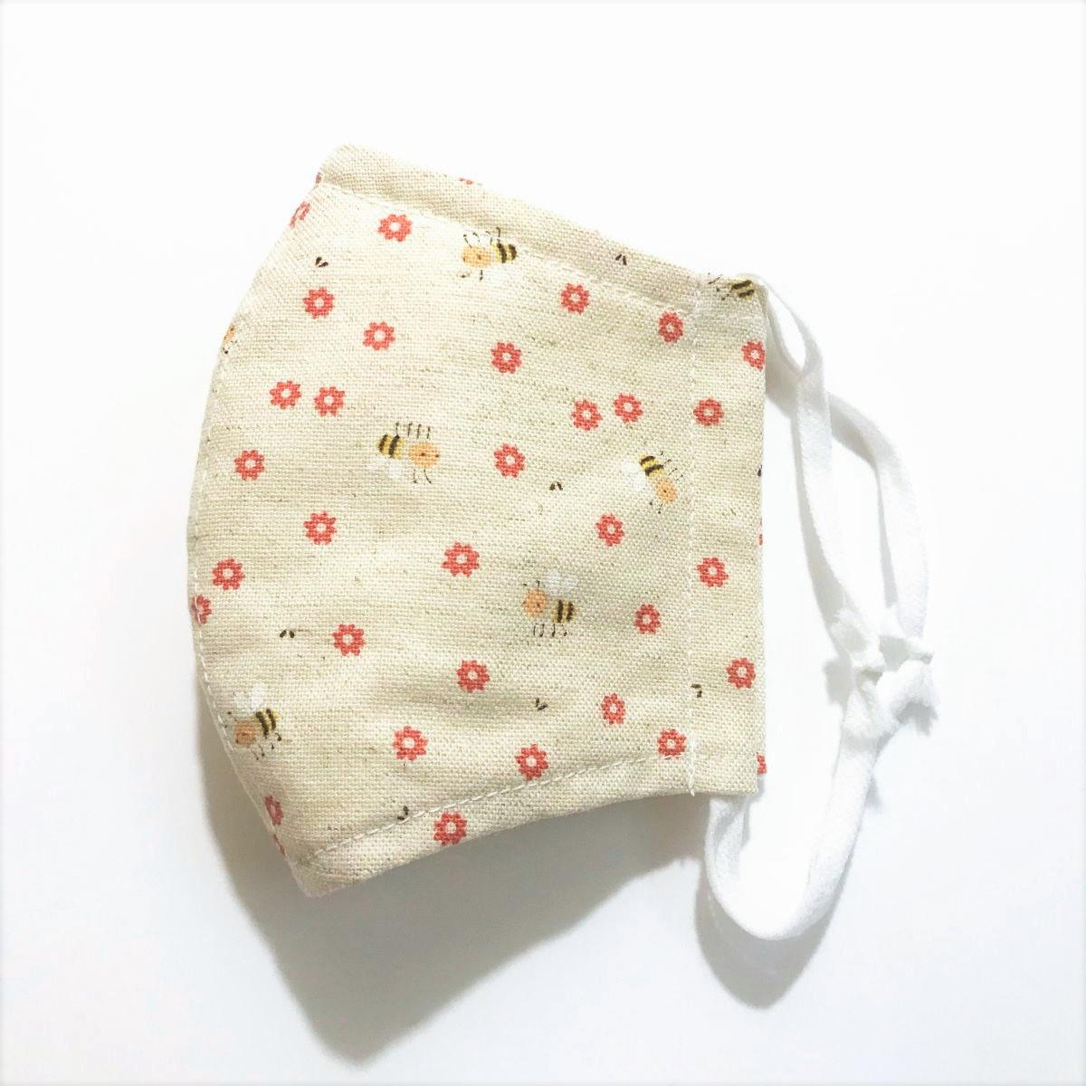 洗える立体布マスク*花柄*Sサイズ