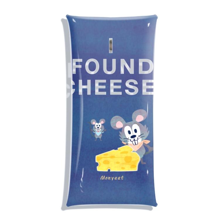 クリアケース ミニ ネズミ チーズ