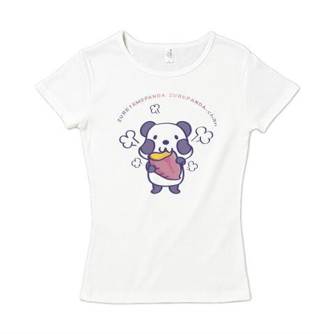 夏Tシャツ 秋Tシャツ 半袖 秋イラスト 焼き芋 パンダ ズレぱんだ