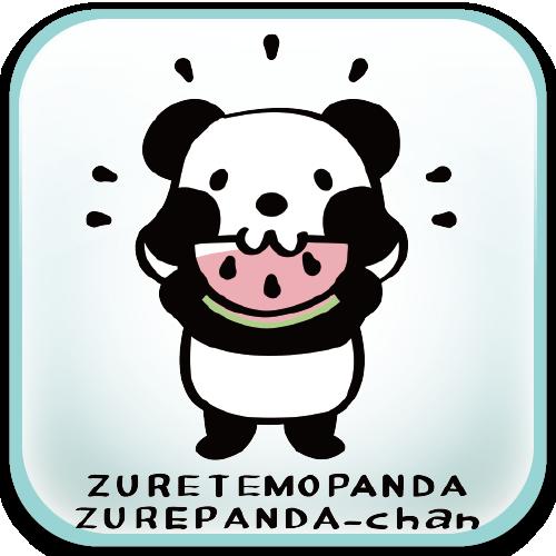 パンダ ズレちゃん スイカ 夏 Tシャツ