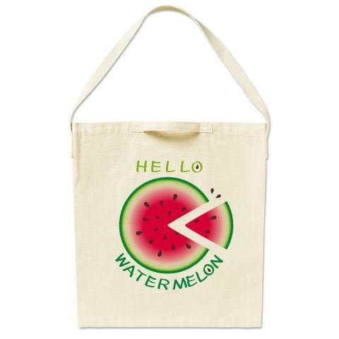スイカ 輪切りのスイカ 夏イラスト 夏の食べ物 バッグ エコバッグ マイバッグ ショルダーバッグ キャラクター キャラ