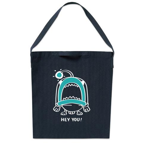 魚 海の底 あんこ姫 あんこう バッグ エコバッグ マイバッグ ショルダーバッグ キャラクター キャラ