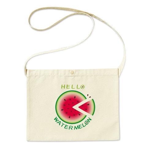 スイカ 輪切りのスイカ 夏イラスト 夏の食べ物 バッグ エコバッグ マイバッグ ショルダーバッグ サコッシュ キャラクター キャラ