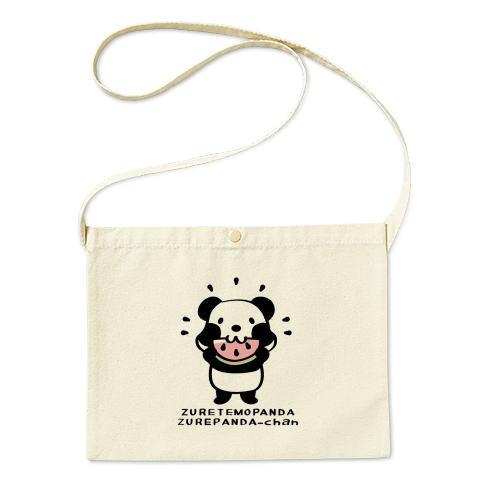 バッグ エコバッグ マイバッグ ショルダーバッグ サコッシュ キャラクター キャラ ぱんだ 焼き芋 ほっかほか 食べよう