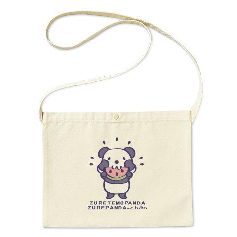 バッグ エコバッグ マイバッグ ショルダーバッグ サコッシュ キャラクター キャラ パンダ ぱんだ 焼き芋 ほっかほか 食べよう