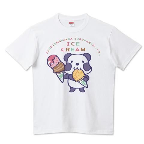 夏Tシャツ 秋Tシャツ 秋イラスト 焼き芋 パンダ ズレぱんだ アイス アイスクリーム ICE  CREAM