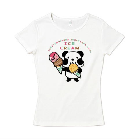 夏Tシャツ アイスクリーム アイス パンダ ズレぱんだ アイス アイスクリーム ICE  CREAM