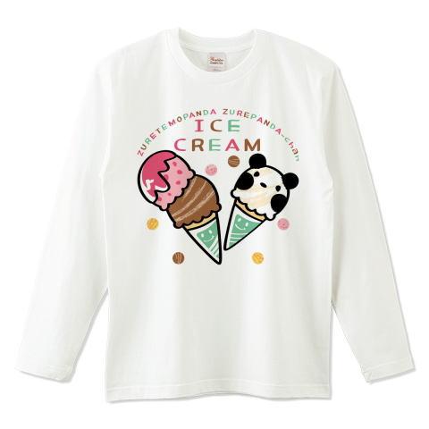 夏Tシャツ 秋Tシャツ 秋イラスト パンダ ズレぱんだ アイス アイスクリーム ICE  CREAM