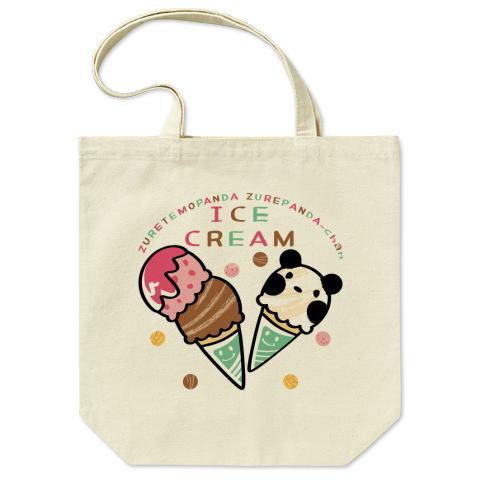 トートバッグ バッグ エコバッグ マイバッグ パンダ ズレぱんだ アイス アイスクリーム ICE  CREAM
