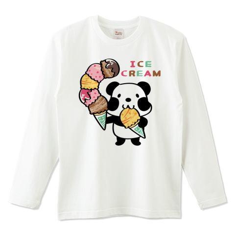 夏Tシャツ パンダ ズレぱんだ アイス アイスクリーム ICE  CREAM 長袖