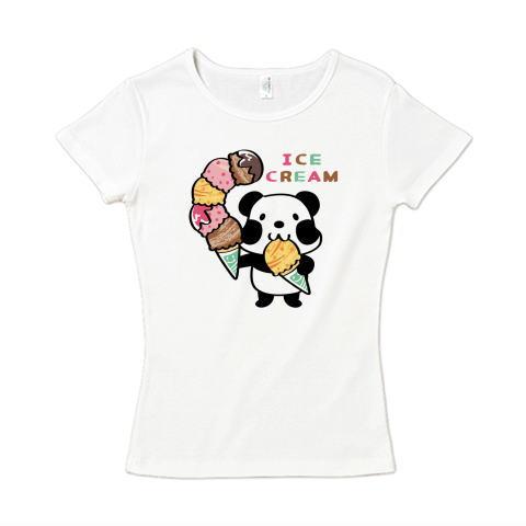 夏Tシャツ パンダ ズレぱんだ アイス アイスクリーム ICE  CREAM レディース