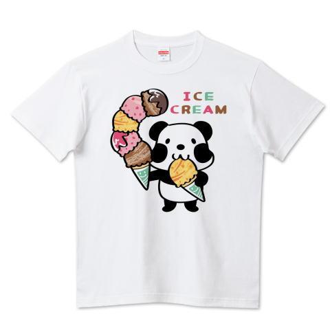 夏Tシャツ アイス アイスクリーム ICE ICECREAM パンダ ズレぱんだ アイス アイスクリーム ICE  CREAM