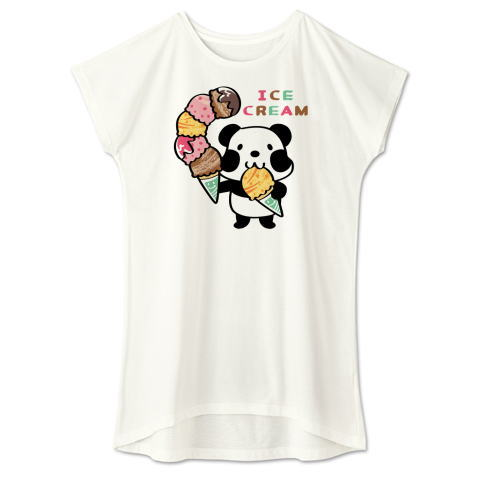 夏Tシャツ パンダ ズレぱんだ アイス アイスクリーム ICE  CREAM