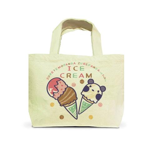 キャラクター キャラ パンダ ズレてもぱんだズレぱんだちゃん アイスクリーム アイス ice ICECREAM トートバッグ マイバッグ エコバッグ