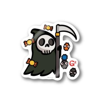 ステッカー おばけ 妖怪 ハロウィン キャラクター オリジナル suziri