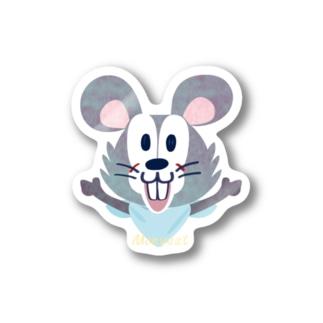 ステッカー ネズミ キャラクター オリジナル suziri