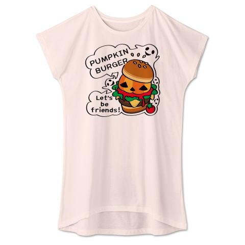 ハロウィン Tシャツ 半袖 Tシャツトリニティ ハンバーガー バーガー かぼちゃバーガー オバケ レディス ワンピース
