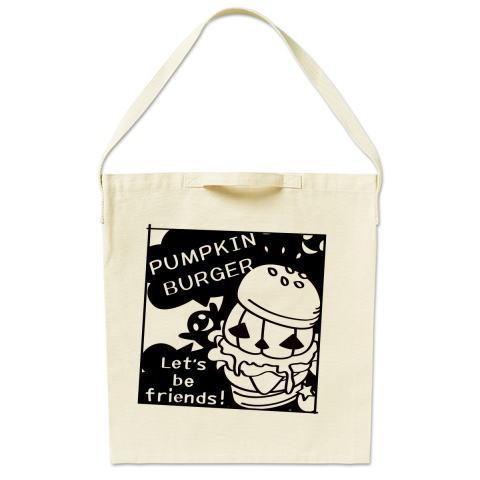 トートバッグ マイバッグ エコバッグ ショルダーバッグ ハロウィン Tシャツトリニティ ハンバーガー バーガー かぼちゃバーガー オバケ