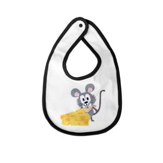 ベイビー ベビー ビブ ベイビービブ  よだれかけ 赤ちゃん ネズミ マウス チーズ