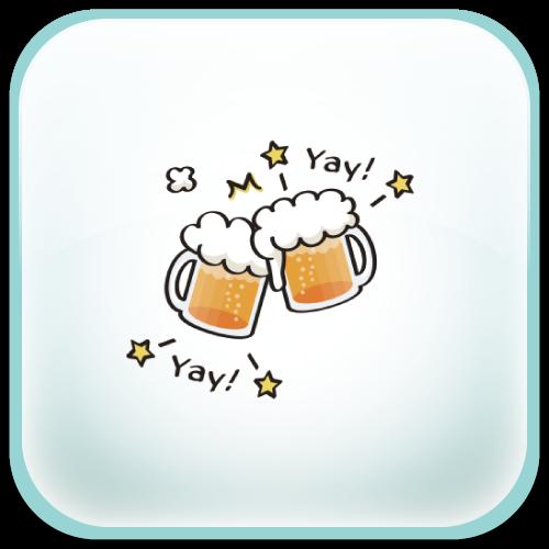生ビール ビール 乾杯 イエイ yay Tシャツ