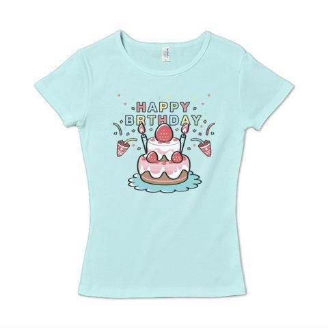 HAPPY BRTHDAY お祝い 誕生日 かわいい Tシャツ 半袖 Tシャツトリニティー リンク レディス