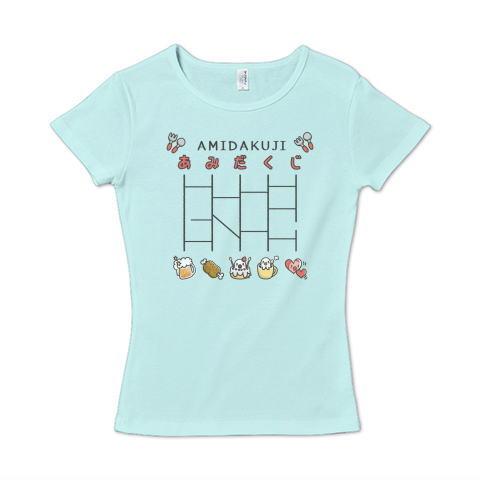 あみだくじ 遊べる かわいい Tシャツ 半袖 Tシャツトリニティー リンク レディス