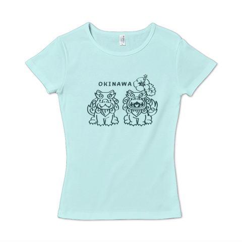 沖縄 OKINAWA シーサー かわいい Tシャツ 半袖 Tシャツトリニティー リンク レディス