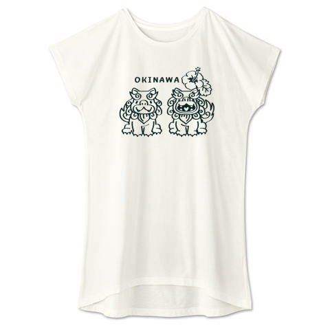 OKINAWA ハイビスカス 沖縄 シーサー かわいい Tシャツ 半袖 Tシャツトリニティ リンク レディス ワンピース
