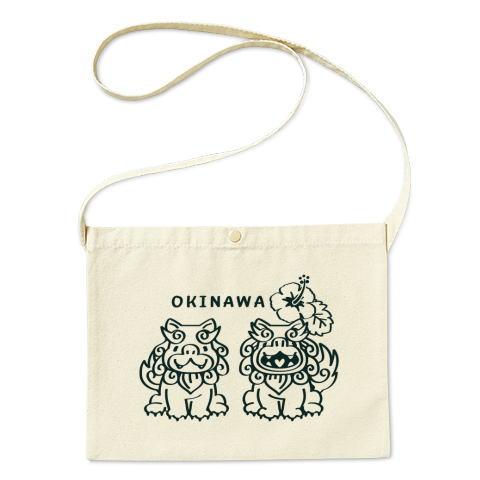 シーサー 沖縄 ハイビスカス かわいい トートバッグ マイバッグ エコバッグ サコッシュ Tシャツトリニティ リンク