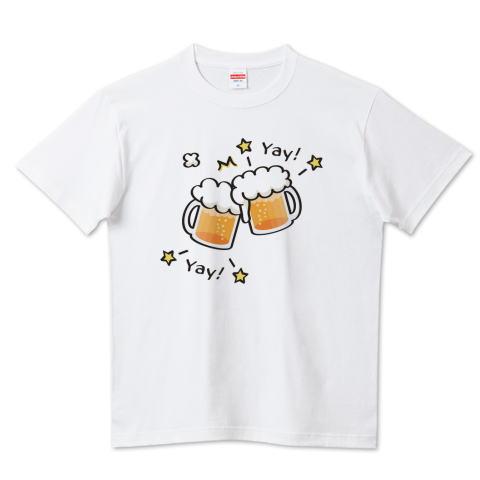 ビール 生ビール ジョッキ 乾杯 かわいい カスタマイズ Tシャツ 盛り上げTシャツ トリニティ リンク
