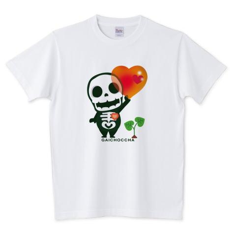 ガイコツ 着ぐるみ ハート 愛 かわいい Tシャツ 半袖 Tシャツトリニティ リンク