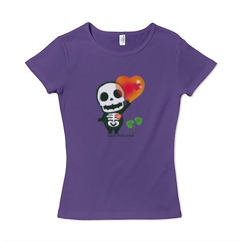 愛してガイコッチャ ガイコツ 着ぐるみ ハート 愛 かわいい Tシャツ 半袖 Tシャツトリニティー リンク レディス